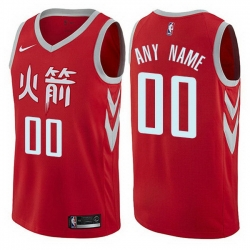 Men Women Youth Toddler All Size Nike Houston Rockets Customized Authentic Red NBA City Edition Jersey