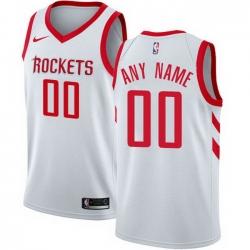 Men Women Youth Toddler All Size Nike Houston Rockets Customized Swingman White Home NBA Association Edition Jersey