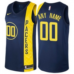Men Women Youth Toddler All Size Nike Indiana Pacers Customized Authentic Navy Blue NBA City Edition Jersey