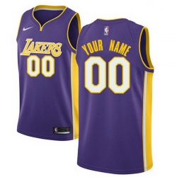 Men Women Youth Toddler All Size Nike Los Angeles Lakers Customized Authentic Purple NBA Statement Edition Jersey