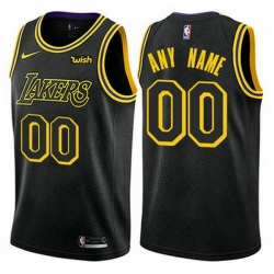 Men Women Youth Toddler All Size Nike Los Angeles Lakers Customized Swingman Black NBA City Edition Jersey