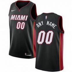 Men Women Youth Toddler All Size Nike Miami Heat Black NBA Swingman Icon Edition Custom Jersey