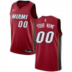 Men Women Youth Toddler All Size Nike Miami Heat Red NBA Swingman Icon Edition Custom Jersey