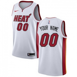 Men Women Youth Toddler All Size Nike Miami Heat White NBA Swingman Custom Jersey