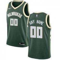 Men Women Youth Toddler All Size Nike Milwaukee Bucks Customized Swingman Green Road NBA Icon Edition Jersey