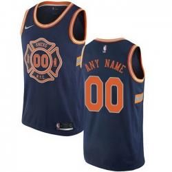 Men Women Youth Toddler All Size Nike New York Knicks Customized Swingman Navy Blue NBA City Edition Jersey