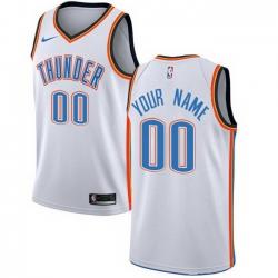 Men Women Youth Toddler All Size Nike Oklahoma City Thunder Customized Swingman White Home NBA Association Edition Jersey