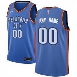 Men Women Youth Toddler All Size Oklahoma City Thunder Nike Blue Swingman Custom Icon Edition Jersey