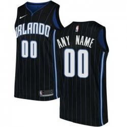 Men Women Youth Toddler All Size Nike Orlando Magic Customized Swingman Black Alternate NBA Statement Edition Jersey
