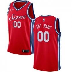 Men Women Youth Toddler All Size Nike Philadelphia 76ers Customized Swingman Red Alternate NBA Statement Edition Jersey