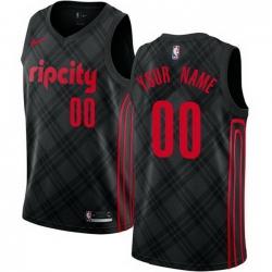 Men Women Youth Toddler All Size Nike NBA Portland Trail Portland Blazers City Edition Authentic Customized Black Jersey
