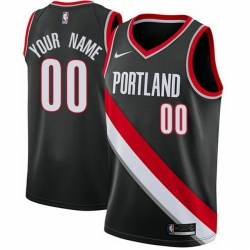 Men Women Youth Toddler All Size Nike Portland Trail Portland Blazers Customized Swingman Black Road NBA Icon Edition Jersey