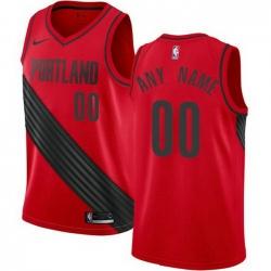 Men Women Youth Toddler All Size Nike Portland Trail Portland Blazers Customized Swingman Red Alternate NBA Statement Edition Jersey