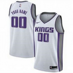Men Women Youth Toddler All Size Sacramento Kings Nike White Swingman Custom Icon Edition Jersey
