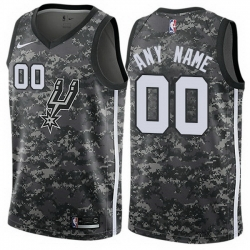 Men Women Youth Toddler All Size Nike San Antonio Spurs Customized Authentic Camo NBA City Edition Jersey