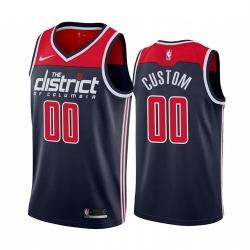 Men Women Youth Toddler All Size Nike Washington Wizards Custom Navy 2019 20 Statement Edition NBA Jersey