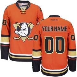 Men Women Youth Toddler Youth Orange Jersey - Customized Reebok Anaheim Ducks Third