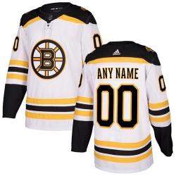 Men Women Youth Toddler Youth White Jersey - Customized Adidas Boston Bruins Away