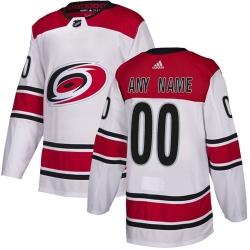 Men Women Youth Toddler Youth White Jersey - Customized Adidas Carolina Hurricanes Away