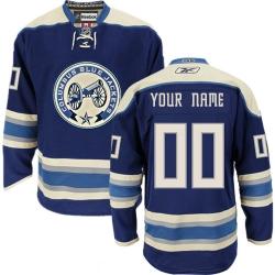 Men Women Youth Toddler Youth Navy Blue Jersey - Customized Reebok Columbus Blue Jackets Third