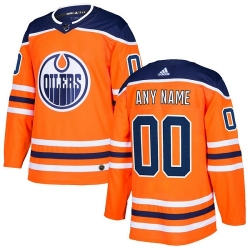Men Women Youth Toddler Youth Orange Jersey - Customized Adidas Edmonton Oilers Home