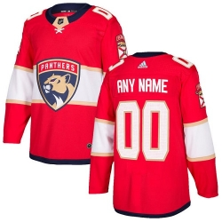 Men Women Youth Toddler Youth Red Jersey - Customized Adidas Florida Panthers Home