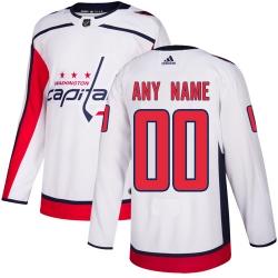 Men Women Youth Toddler Youth White Jersey - Customized Adidas Washington Capitals Away