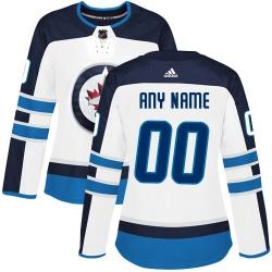 Men Women Youth Toddler White Jersey - Customized Adidas Winnipeg Jets Away  II