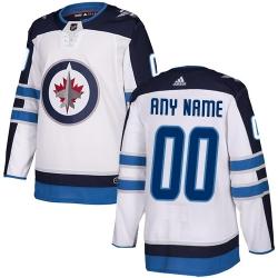 Men Women Youth Toddler White Jersey - Customized Adidas Winnipeg Jets Away