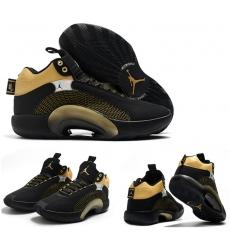 Jordan 35 Men Shoes Black Gold
