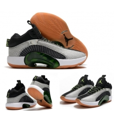 Jordan 35 Men Shoes Grey Green