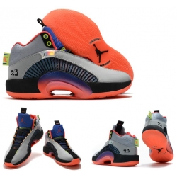 Jordan 35 Men Shoes Grey Orange