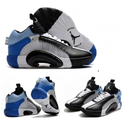 Jordan 35 Men Shoes White Blue Black