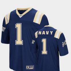 Men Navy Midshipmen 1 Navy Foos Ball Football Colosseum Jersey