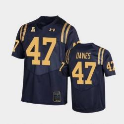 Men Navy Midshipmen Daniel Davies College Football Navy Replica Jersey