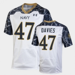 Men Navy Midshipmen Daniel Davies Special Game White Football Jersey