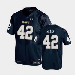Men Navy Midshipmen Ian Blake Replica Navy College Football Jersey