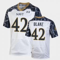 Men Navy Midshipmen Ian Blake Special Game White Football Jersey