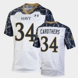 Men Navy Midshipmen Jamale Carothers Special Game White Football Jersey
