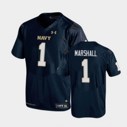 Men Navy Midshipmen John Marshall Replica Navy College Football Jersey