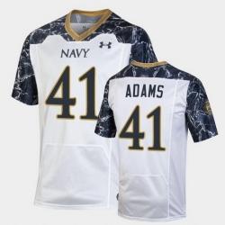 Men Navy Midshipmen Terrell Adams Special Game White Football Jersey