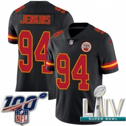 2020 Super Bowl LIV Men Nike Kansas City Chiefs #94 Jarvis Jenkins Limited Black Rush Vapor Untouchable NFL Jersey