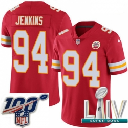 2020 Super Bowl LIV Men Nike Kansas City Chiefs #94 Jarvis Jenkins Red Team Color Vapor Untouchable Limited Player NFL Jersey