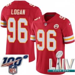 2020 Super Bowl LIV Men Nike Kansas City Chiefs #96 Bennie Logan Red Team Color Vapor Untouchable Limited Player NFL Jersey