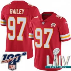 2020 Super Bowl LIV Men Nike Kansas City Chiefs #97 Allen Bailey Red Team Color Vapor Untouchable Limited Player NFL Jersey