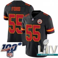 2020 Super Bowl LIV Youth Nike Kansas City Chiefs #55 Dee Ford Limited Black Rush Vapor Untouchable NFL Jersey