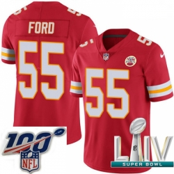 2020 Super Bowl LIV Youth Nike Kansas City Chiefs #55 Dee Ford Red Team Color Vapor Untouchable Limited Player NFL Jersey