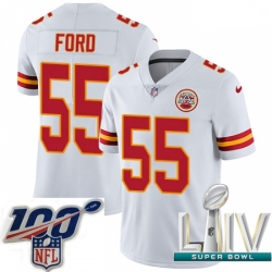 2020 Super Bowl LIV Youth Nike Kansas City Chiefs #55 Dee Ford White Vapor Untouchable Limited Player NFL Jersey