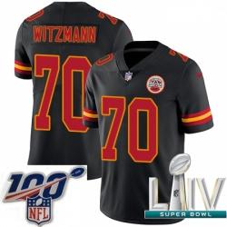 2020 Super Bowl LIV Youth Nike Kansas City Chiefs #70 Bryan Witzmann Limited Black Rush Vapor Untouchable NFL Jersey