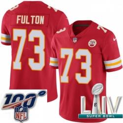 2020 Super Bowl LIV Youth Nike Kansas City Chiefs #73 Zach Fulton Red Team Color Vapor Untouchable Limited Player NFL Jersey